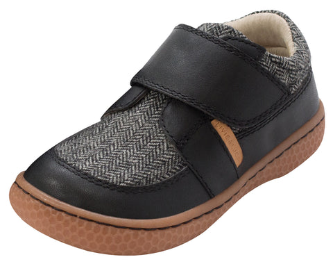 Livie & Luca Boy's Maverick Sneakers, Black Herringbone