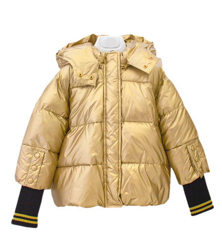FUN & FUN Soft Shiny Gold Puffy Coat Duck Down for Girls