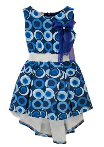 Fracomina Mini Fantasy Soft Stretch Blue Dress
