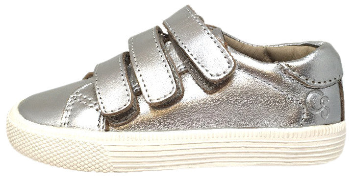Old Soles Boy's & Girl's Urban Markert Silver Leather Sneaker Shoe