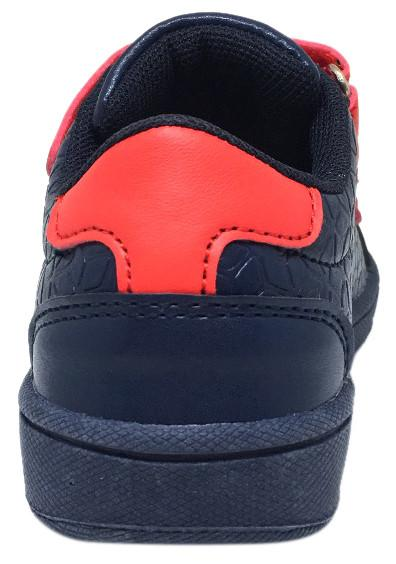 My Brooklyn The Original Boy's and Girl's Sneaker in Navy Blue with Red Double Straps
