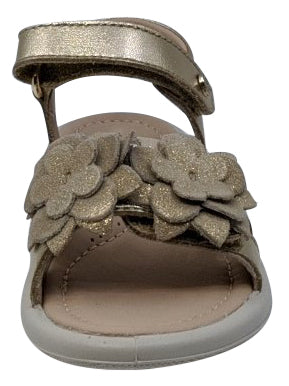 Naturino Girl's Noter Hook and Loop sandals, Laminato/Platino