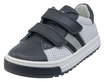 Naturino Girl's and Boy's Seam Vl Vit/Vit.Forato Sneakers, Nero-Bianco