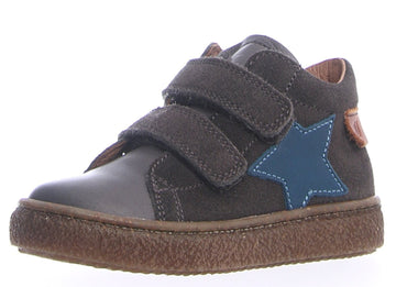 Naturino Boy's Albus Star Vl Nappa/Velour Spazz. Sneaker Shoes - Antracite/Storm
