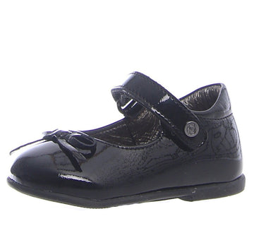 Naturino Girl's T-Strap Ballet Flat Shoes - Patent Black