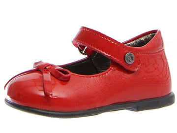 Naturino Girl's Mary Jane Ballet Flat Shoes - Patent Red