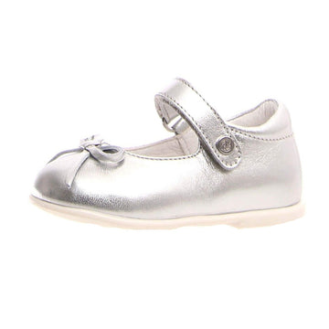 Naturino Girl's Metallic Sole Ballet Flat Shoes - Silver