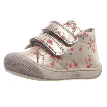 Naturino Girl's Cocoon Vl Little Roses Sneakers - Platinum