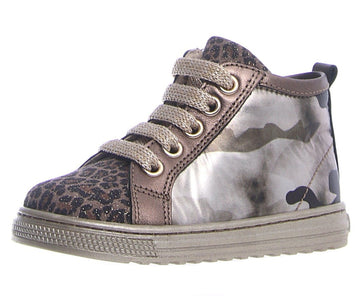 Naturino Girl's Emiane Side Zip Jaguar Lam/Kamo Lux/Lam Platino Sneaker Shoes