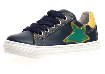 Naturino Boy's & Girl's Kokie Zip Vitello Sneaker Shoes - Navy/Verde/Mais