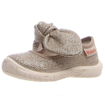 Naturino Girl's Alagna Glitter Zip Shoes - Platinum
