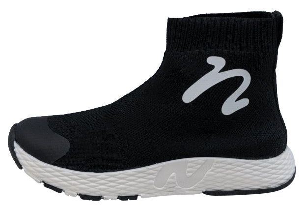 Naturino Boy's & Girl's Cables Calza High Top Sneakers, Nero-Bianco