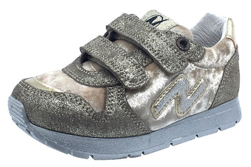 Naturino Girl's Slam Sneakers Tennis Shoes, Platino
