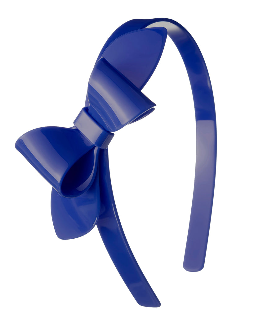 Lilies & Roses NY Girl's Navy Blue Bow Headband