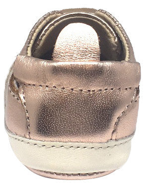 Old Soles Boy's & Girl's 030 Eazy Tread Copper White Soft Leather Classic Slip On Baby Shoes
