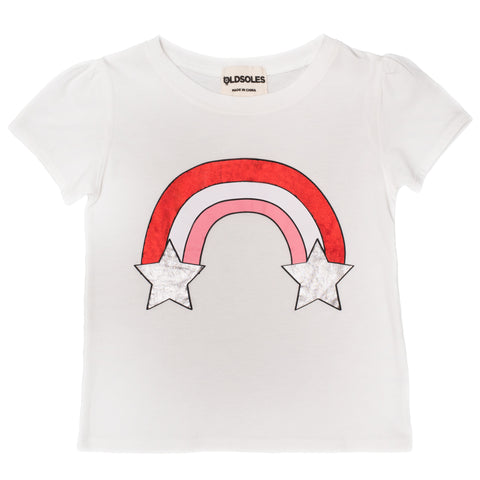 Old Soles Rainbow Starburst T Shirt White