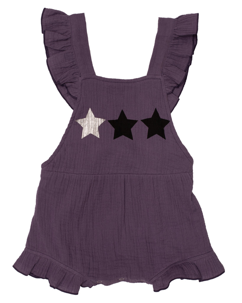 Old Soles  Star Child Ruffled Romper Amethyst