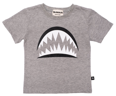 Old Soles Pearly Whites T-Shirt Grey Marl Boy's