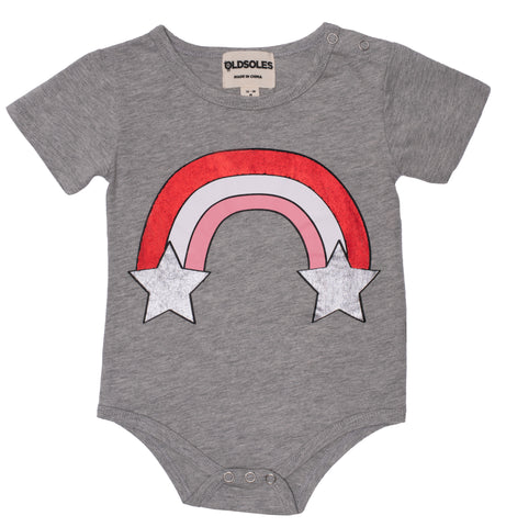 Old Soles Rainbow Starburst Bodysuit Grey Marl , Grey