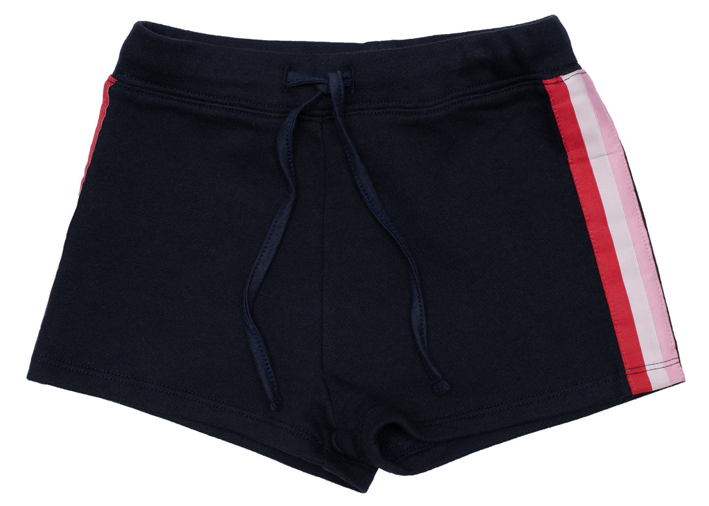 Old Soles Rainbow Stripe Shorts Navy