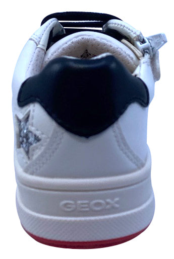 Geox Respira Girl's J Rebecca Sneaker Shoes, White