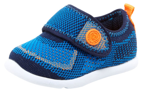 Step & Stride Wells Blue Mesh Large Hook and Loop Upper Athletic Sneaker