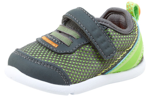 Step & Stride Inche Mesh Elastic Slip On Hook and Loop Athletic Sneaker