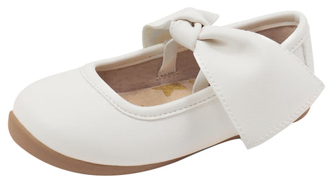 Livie & Luca Halley Girl's Mary Jane, Bright White