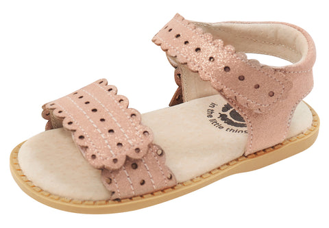 Livie & Luca Girl's Posey Sandals, Desert Rose Shimmer