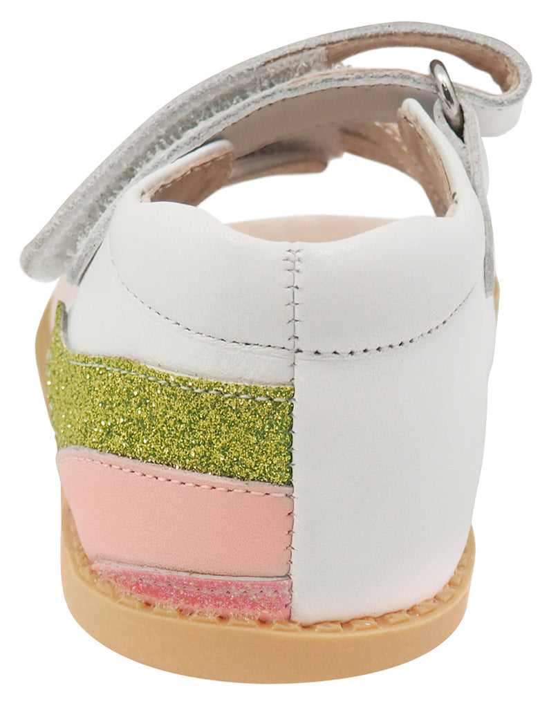 Livie & Luca Girl's Unicorn Sandals, White Rainbow