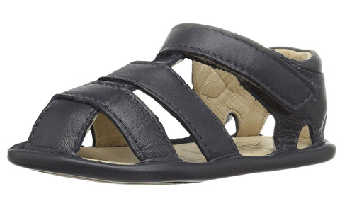 Old Soles Girl's and Boy's Navy Blue Leather Sandy Sandals