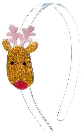 Lilies & Roses NY Girl's Reindeer Copper Headband