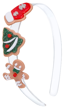 Lilies & Roses NY Girl's Christmas Cookies Headband