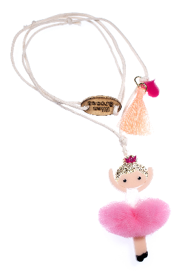 Lilies & Roses NY Girl's Ballerina Light Pink Necklace