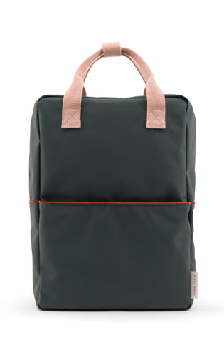 Sticky Lemon Large Backpack, Bottle Green Corduroy Collection