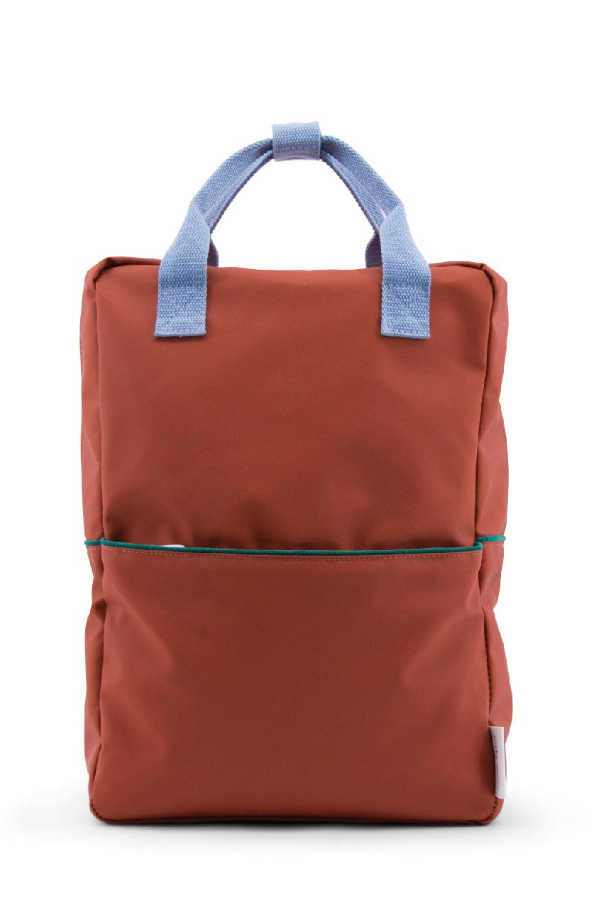 Sticky Lemon Large Backpack, Brick Red Corduroy Collection