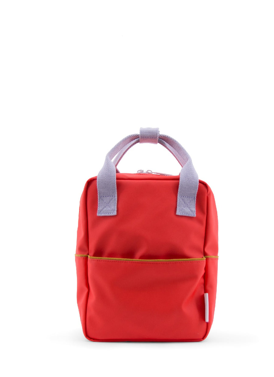 Sticky Lemon Corduroy Collection Small Backpack, Sporty Red