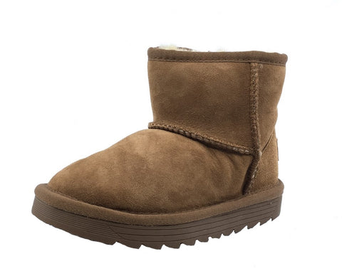 Old Soles Girl's Shearling Boots, Tan