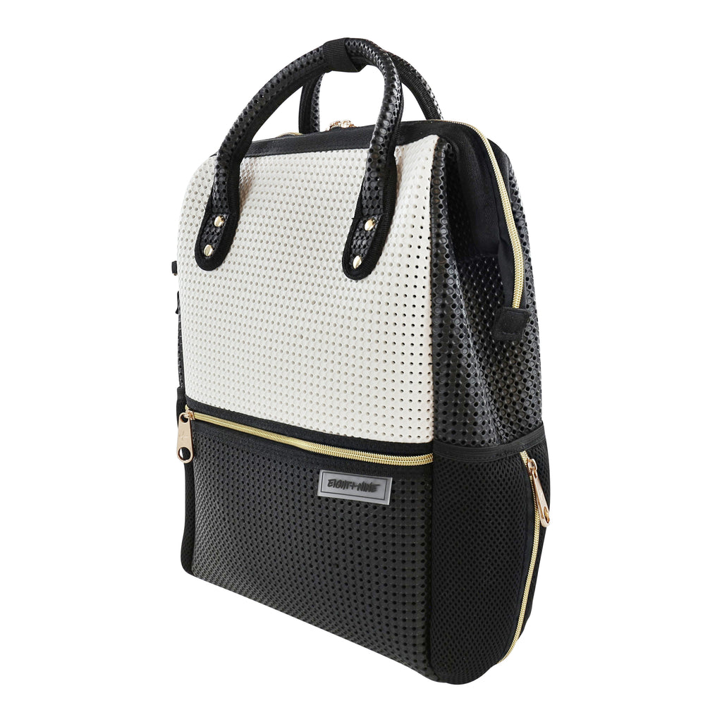 Light + Nine Black and White Tweeny Backpack