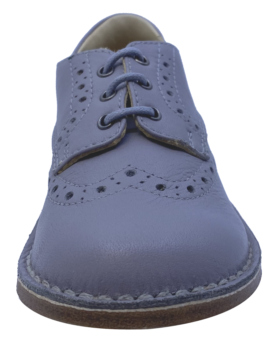 Eureka Boy's Grey Handcrafted Leather Oxford