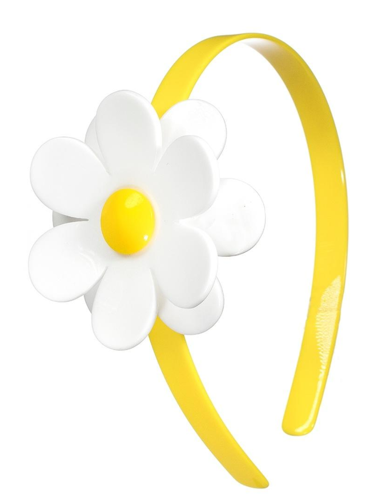 Lilies & Roses NY Girl's Daisy Yellow Flower Headband