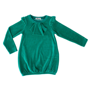 Raspberry Republic Velour Dress Aristodogs Green