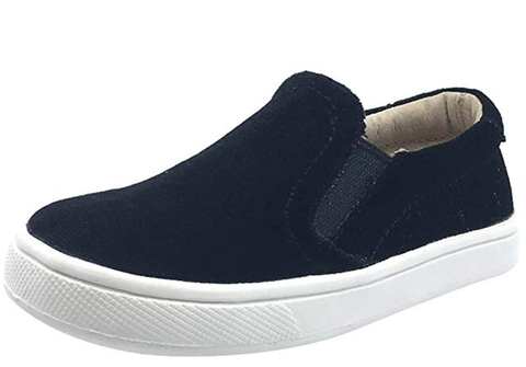 Old Soles Girl's Velvey Hoff Velvet Slip On, Black