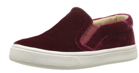 Old Soles Girl's Velvey Hoff Velvet Slip On, Red
