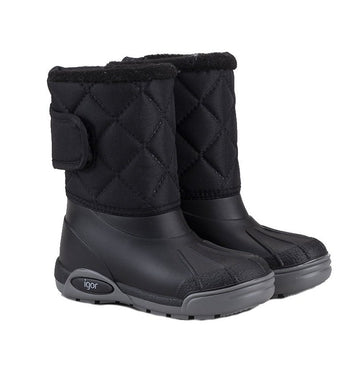 Igor Boy's & Girl's Topo Ski Nylon Snow Boot, Black