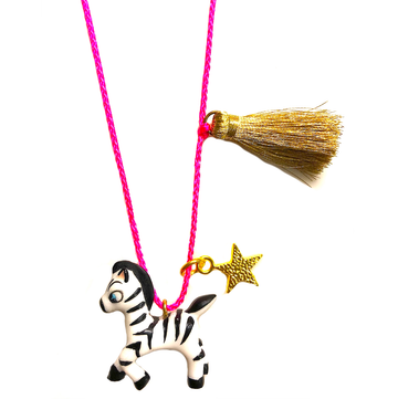 Gunner & Lux Zoe the Zebra Necklace