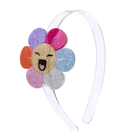 Lilies & Roses NY Girl's Happy Flower Glitter Headband