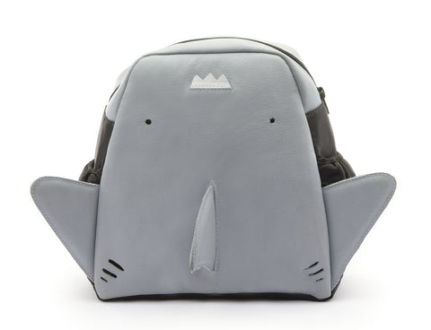 Tip Toey Joey Shark Backpack, Tide Blue/Blue Fish Pearl