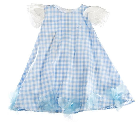 FUN & FUN Girl's BDR3222 Dress - Blue
