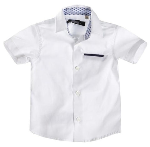 Attic 21 Short Sleeve HSH4212 Dress Shirt - Off White